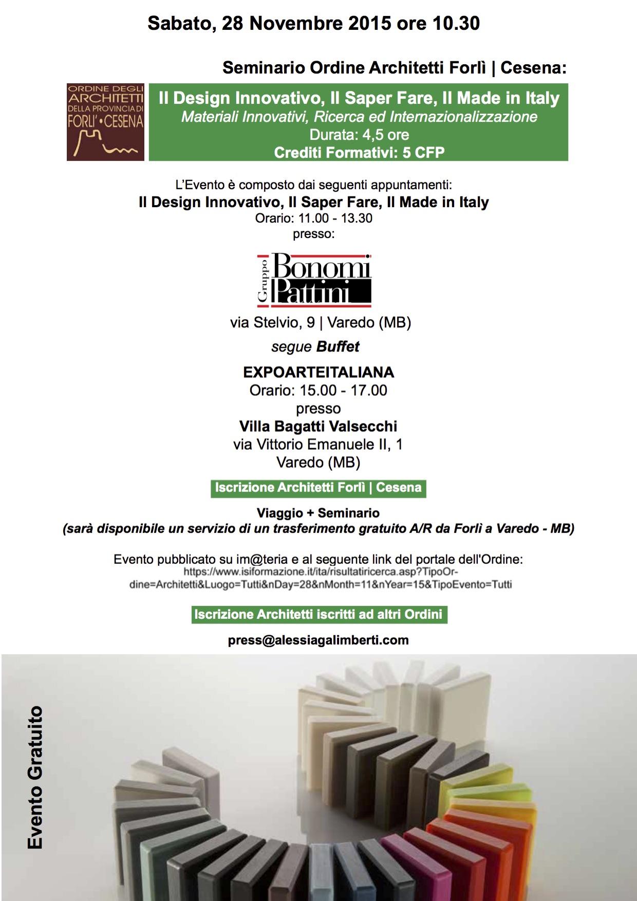 """Gruppo Bonomi Pattini ospita il seminario """"Il Design Innovativo, Il Saper Fare, Il Made in Italy"""""""