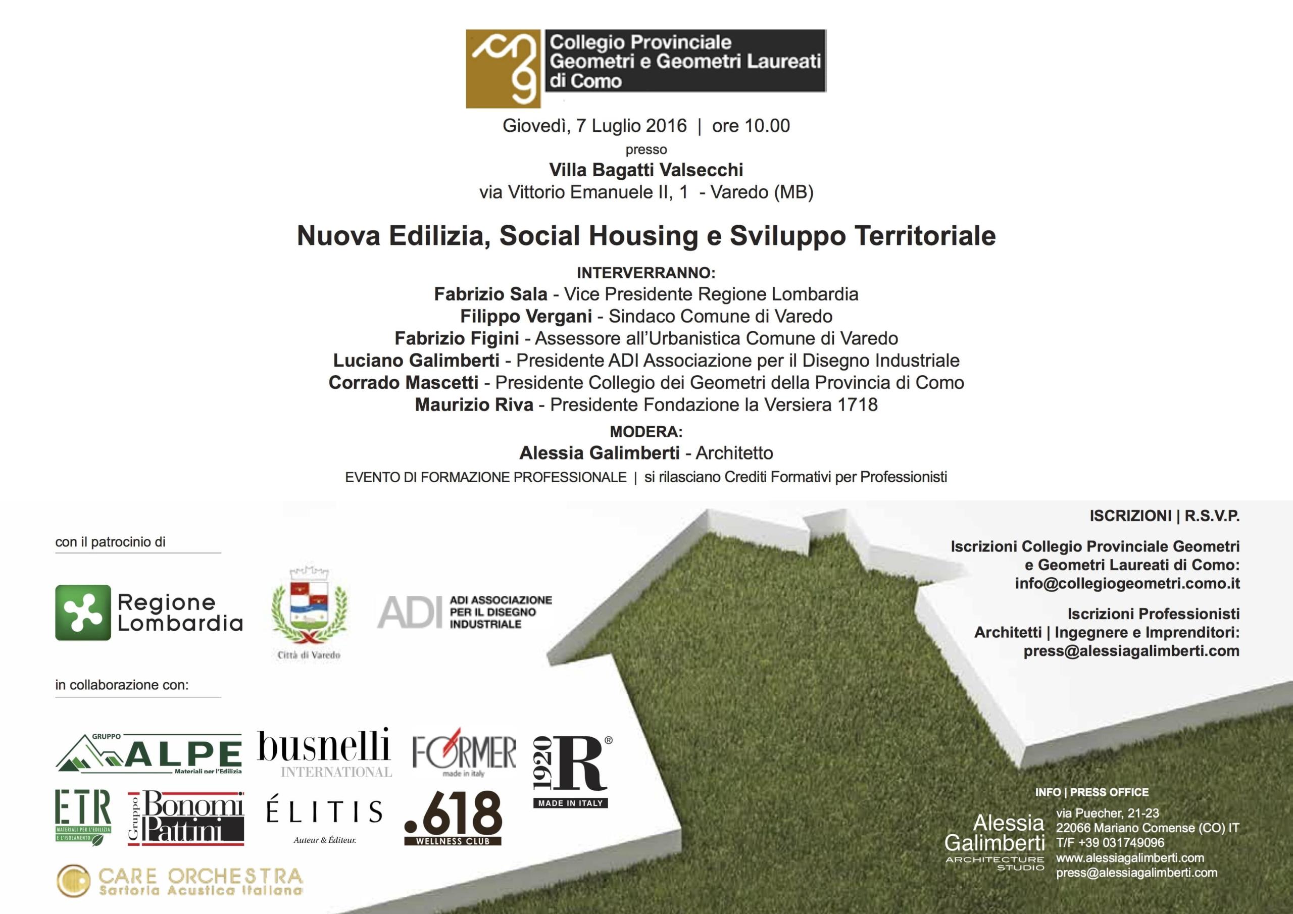 Seminario Nuova Edilizia, Social Housing e Sviluppo Territoriale