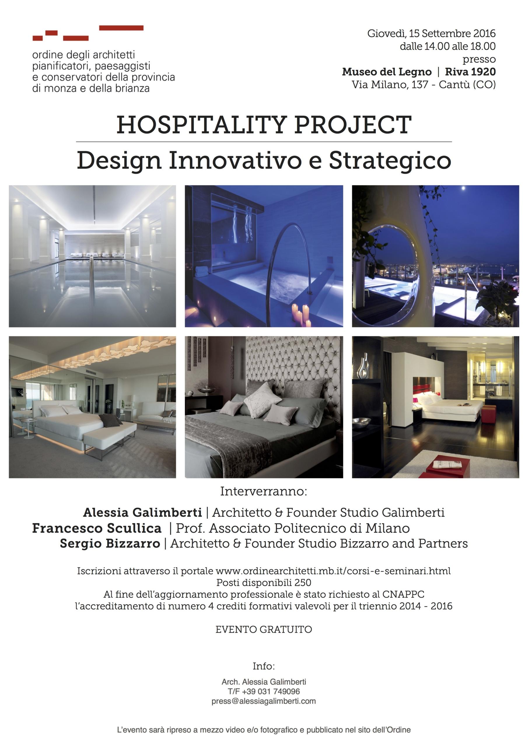 """Evento """"OSPITALITY PROJECT – Design Innovativo e Strategico"""""""