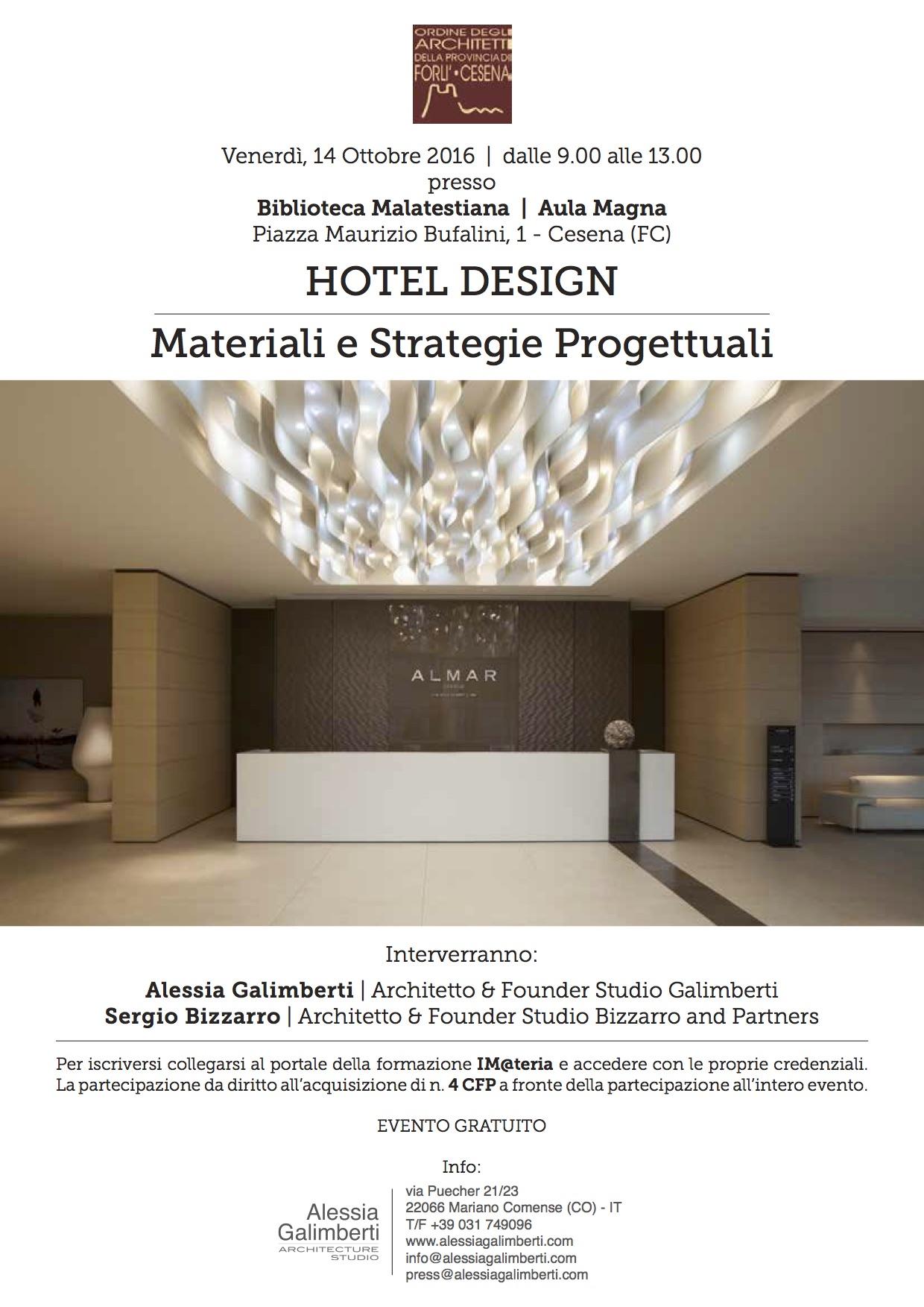 """Evento """"HOTEL DESIGN –  Materiali e Strategie Progettuali"""""""