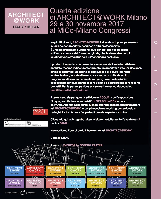 Il Gruppo Bonomi Pattini all'Architect@Work a Milano!