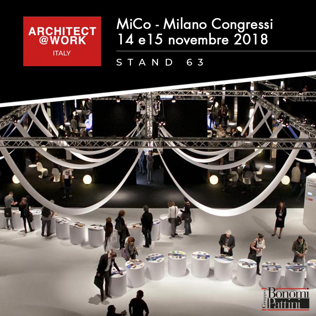 Il Gruppo Bonomi Pattini ad Architec@Work Milano | 14-15 novembre 2018